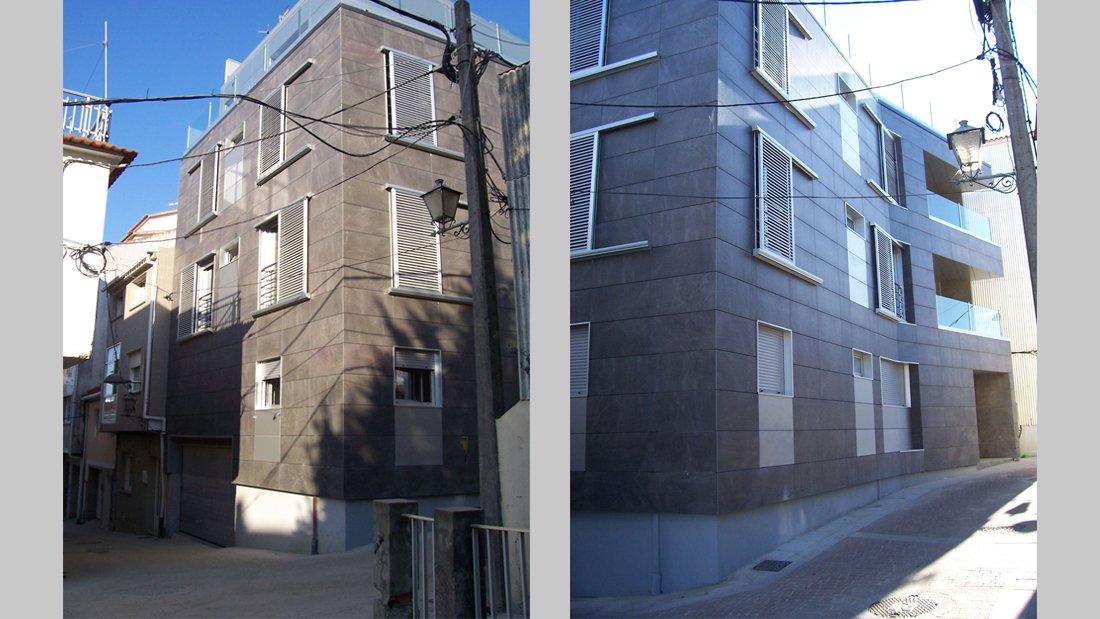 Vista exterior. Edificio de viviendas colectivas