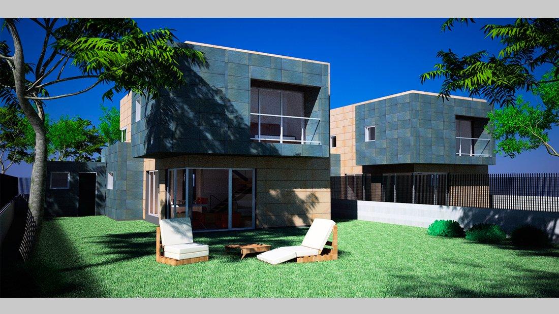 Plano vivienda r21 - arquitectura moderna - Pérez y Figueroa