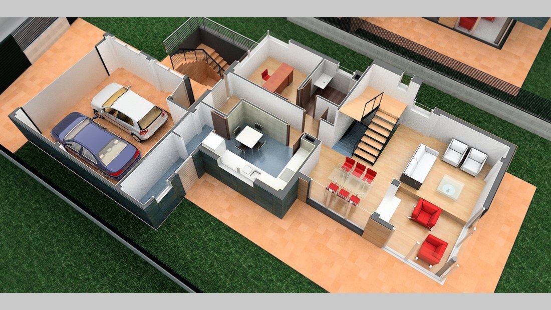 Plano vivienda r24 planta - Pérez y Figueroa