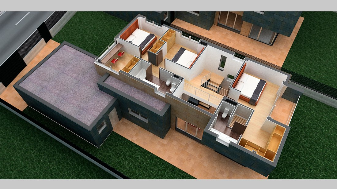 Plano vivienda r22 habitaciones - Pérez y Figueroa