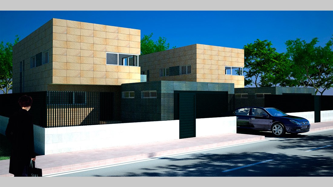 Plano vivienda r23 frontal - Pérez y Figueroa
